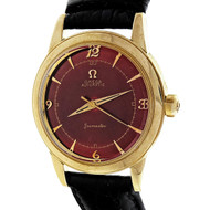 Vintage 1960 Omega Automatic Custom Bright Red Seamaster Strap Watch