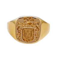 Estate Crest Engraved Signet Ring 14k Yellow Gold Larter & Sons