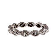 Estate Vintage 1950 Eternity Wedding Band Ring .25ct Platinum