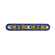 Antique 1900 Blue Enamel Natural Pearl Bar Pin