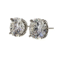 Estate 5.03ct GIA Certified Platinum Diamond Stud Earrings