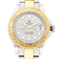Mid Size Rolex Yachtmaster 168623 2007 18k Steel Watch