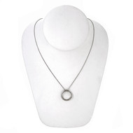 Estate Roberto Coin Tiny Treasures Small Circle Diamond Necklace