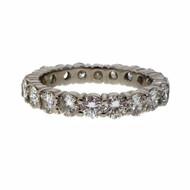 Estate 2.40ct Common Prong Platinum Diamond Eternity Band Ring