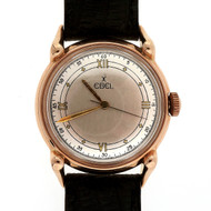 1950 14k Pink Gold Men's Ebel Manual Wind Watch