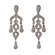 Chandelier 14k White Gold Dangle Earrings .75ct Diamond