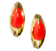 Bergio Natural Untreated Coral 18k Earrings