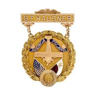 Vintage 1932 Aviation 14k Gold Medal S.F. Hausner Linder NJ Polish