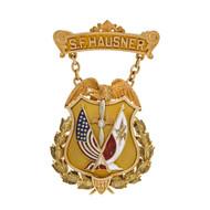 Vintage Aviation14k Gold Medal S. F. Hausner Polish American Atlantic Crossing