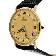 Concord Moonphase 14 Karat Gold Quartz Ultra Thin Watch