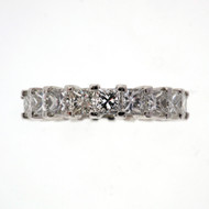 4.00ct Princess Cut Diamond Platinum Eternity Ring Wedding Band PSD