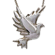Estate Tiffany & Co Picasso Dove Pendant Necklace Silver