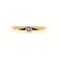 Estate Cartier Ellipse .25ct Diamond 18k Yellow Gold Solitaire Ring
