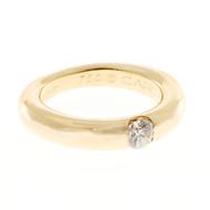 Estate Cartier Ellipse .25ct Diamond 18k Yellow Gold Solitaire Ring
