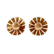 Estate Cartier 1940 Retro 14k Rose Gold Pierced Earrings