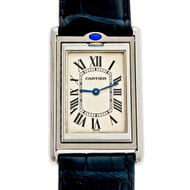 Cartier Tank Basculante 2390 Steel Large Wrist Watch Reversible