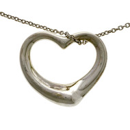 Estate Else Peretti Medium Open Heart Silver Pendant