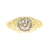 Men's Antique 1880's Old Mine Brilliant Cut Diamond 0.81ct Diamond Ring