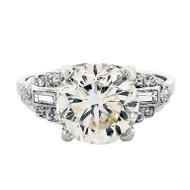Transitional Ideal Cut Diamond Platinum Ring