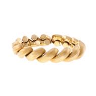Vintage San Marco Florentine Link Bracelet 18k Yellow Gold Italian