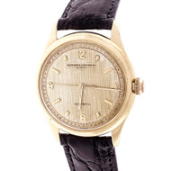 Vacheron & Constantin 1960 18k Yellow Gold Wrist Watch Rare Dial