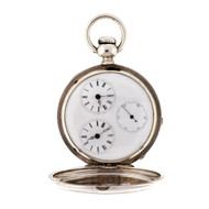 Antique Important Rare Tiffany Brothers Dual Time Zone 1860 Pocket Watch