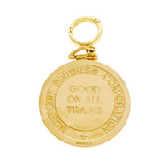 Commemorative Railroad Tiffany Medal 18k Yellow Gold Norfolk Southern