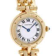 Cartier Panthere Round 18k Solid Gold Ladies Watch Quartz
