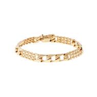 Vintage 1960 Bracelet Alternating Rope & Link Sections 14k Yellow Gold