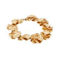 Vintage 1960 Flower Link Diamond Bracelet Textured Links