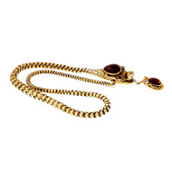 Victorian Dragon Serpent Snake Necklace Cabochon Garnet 14k Gold
