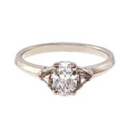 Tiffany & Co  GIA Oval Diamond 1990 Platinum Engagement Ring
