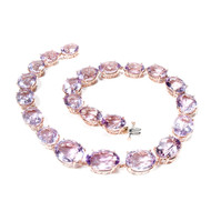 Peter Suchy Lilac Amethyst Necklace Rose 14k Gold Riviere Style