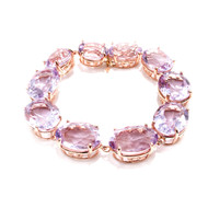 Peter Suchy Lilac Amethyst Bracelet Rose 14k Gold Riviere Style