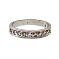 Estate Platinum Diamond Wedding Band Ring