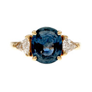 Estate Rare Soft Blue Sapphire Ring Natural No Heat GIA
