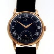 Estate Men's 1958 Omega 18k Pink Gold Caliber 267 17 Jewel Manual Wind Watch