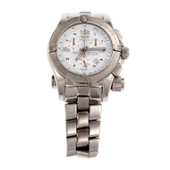 Breitling Emergency A73321 Steel Watch Chronograph Date Emergency Beacon