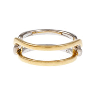 Cartier Open Loop Ring 18k Yellow & White Gold
