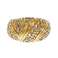 Estate 1960 Diamond Dome Ring 14k Yellow Gold