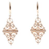 Dangle Diamond 14k Rose Gold Earrings
