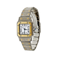 Cartier Santos Automatic Galbee Ladies Steel 18k Yellow Gold