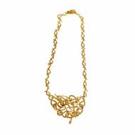 Medusa Snake Necklace Pendant 1950 Solid 18k Yellow Gold