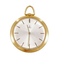 Ebel Pocket Watch 18k Yellow Gold Manual Wind