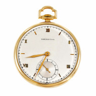 Tiffany & Co Meylan 21 Jewel Manual Wind 14k Open Face Pocket Watch