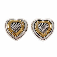 David Yurman Thoroughbred Diamond Heart Earrings