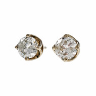 Peter Suchy Woven Prong Diamond Stud Earrings 14k White Gold