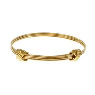 Asprey Knot Design Adjustable Bangle Bracelet 18k Yellow Gold