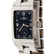 Baume & Mercier Hampton Steel Wrist Watch Black Dial