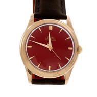 Piaget Automatic 18k Pink Gold Wrist Watch Custom Red Dial